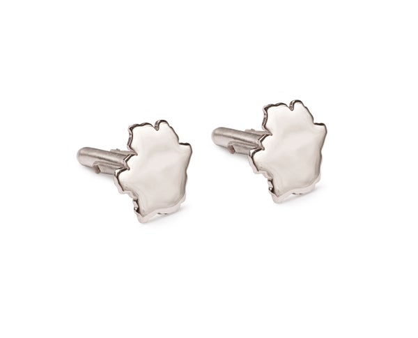 Image of Sterling Silver Crater Bar Cufflinks