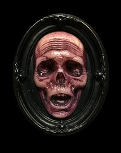 Image of Glow in the Dark Death's Head Mini Plaque- Limited Edition- Magenta Edition