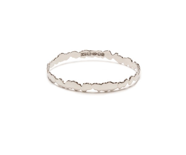Image of Sterling Silver Cracked Bangle