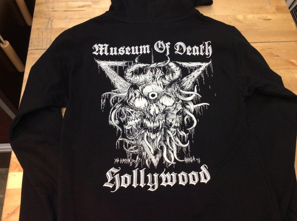 Image of M.O.Demon Zip Up Hoodie- Black