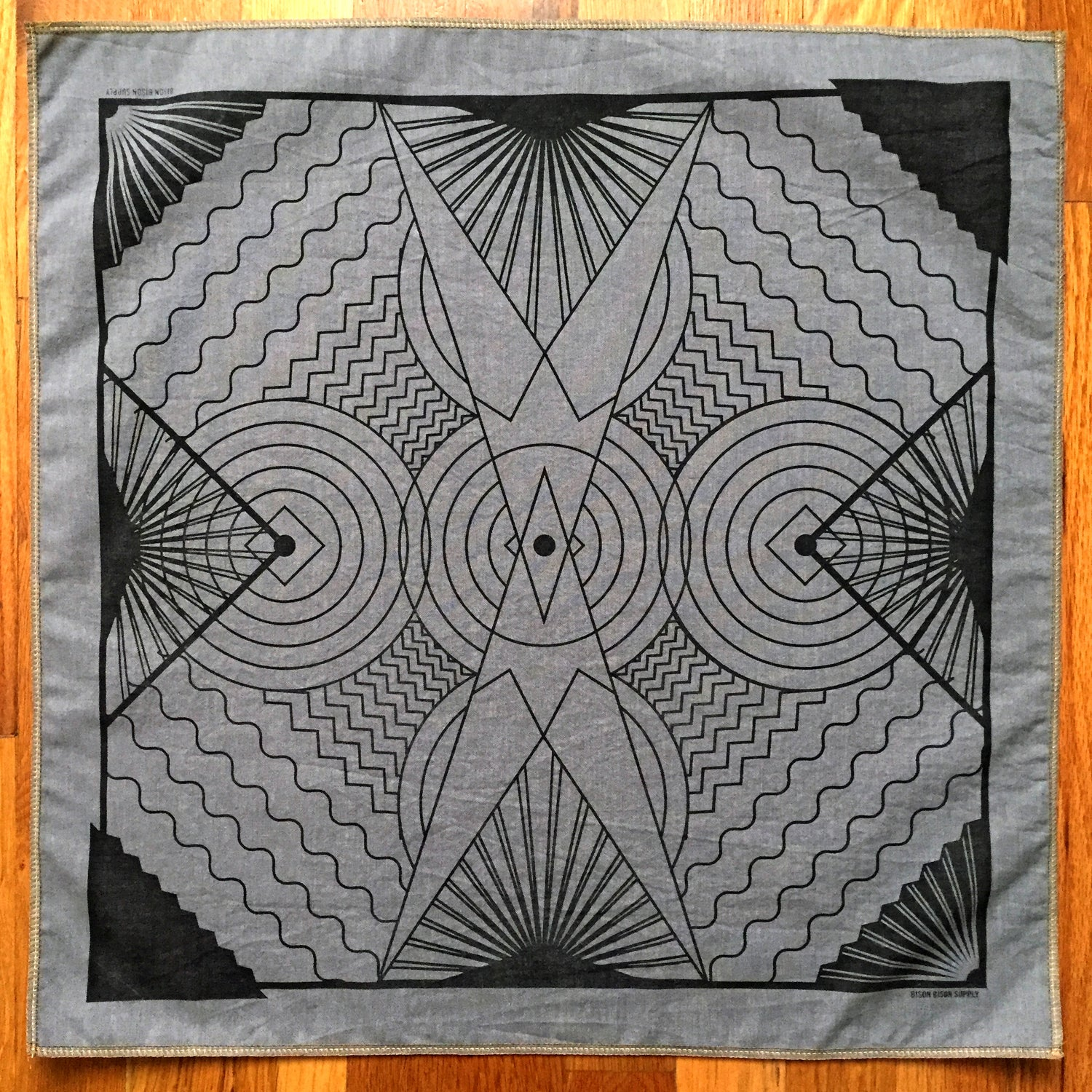 Image of Hand-Printed Handkerchief