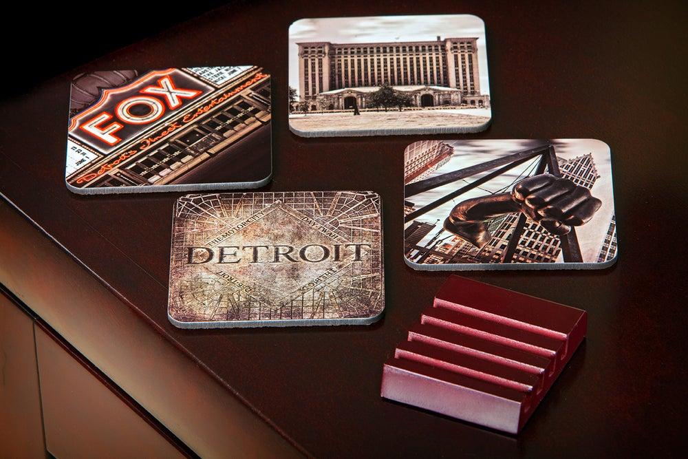 Image of Hardboard Motorcity Coasters (set of 4)