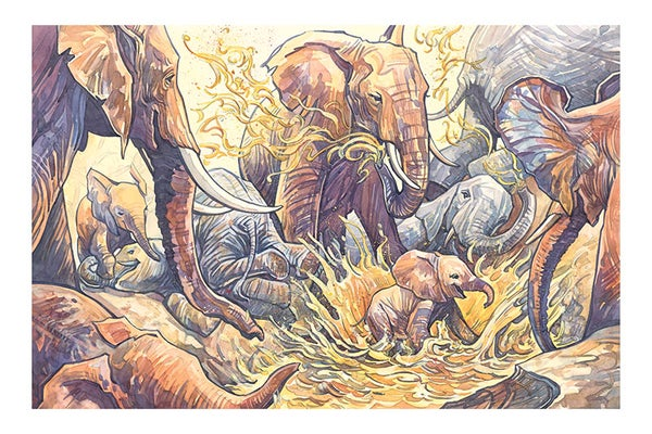 Image of Mud Party Giclée Print 16 x 24 from HOW TO BE AN ELEPHANT