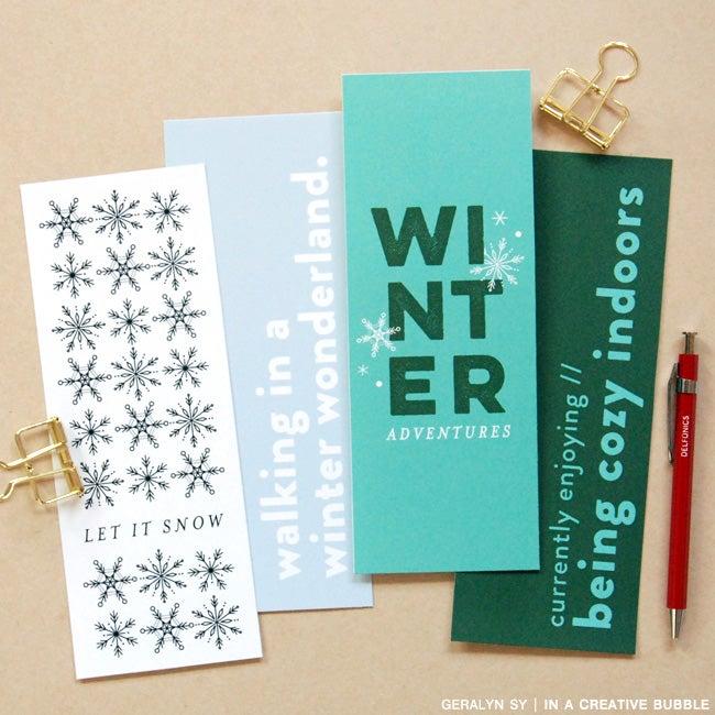 Image of 3x8 Winter Journaling Cards (Digital)