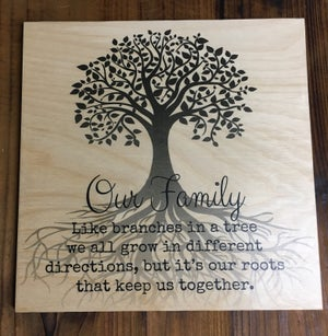 Image of Square Personalised Plywood Print