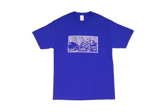 Image of Broski - Kraken Mechanic T Shirt Blue