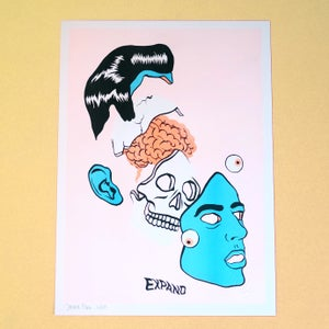 "Image of ""EXPAND"" LIMITED EDITION A3 RISOGRAPH PRINT"