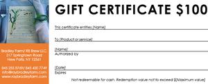 Image of Gift certificate for 2018 Summer Sunday Dinner Series