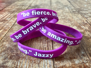 Image of be fierce. be brave. be amazing. wristband!