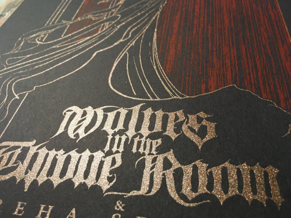 Image of WOLVES IN THE THRONE ROOM (Diptych Show poster)