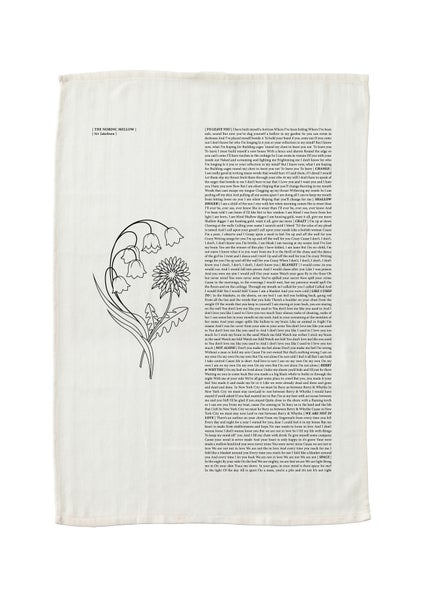 Image of The Nordic Mellow Lyric Tea Towel
