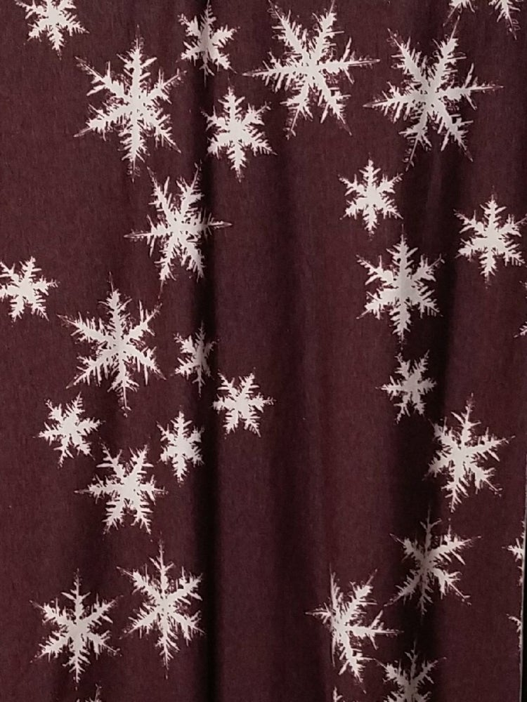 Image of Knitpop Custom Burgundy Snowflakes French Terry