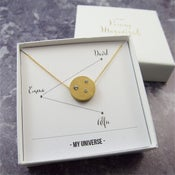 Image of My Universe - Personalised Gold Crystal Family Constellation Necklace