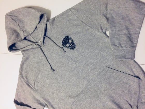 Image of BlueCheese Grey SkullGang Hoody