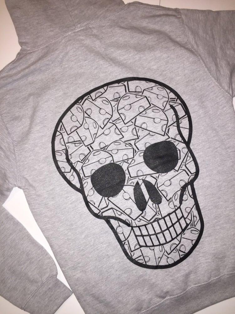 Image of BlueCheese Grey SkullGang Hoody