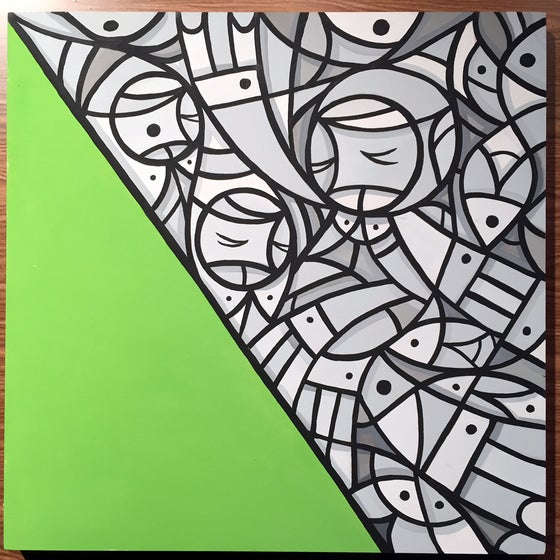 "Image of ""The Most Unkindest Cut of All"" original painting on wood panel"