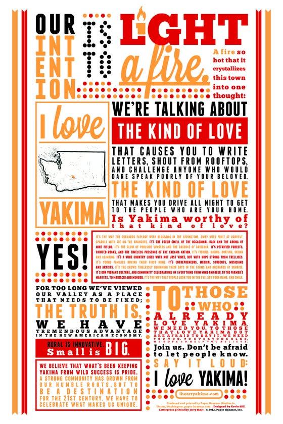 Image of Love Letter - Letterpress Broadside