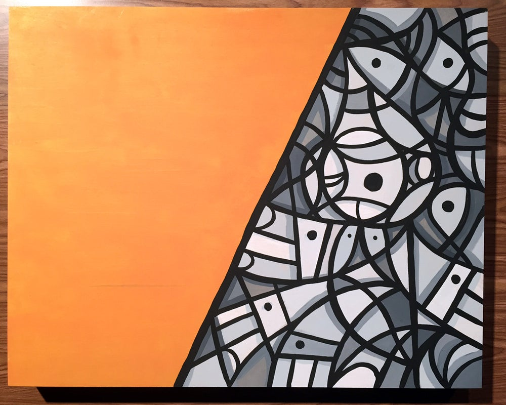 "Image of ""Revelation & Emptiness,"" original acrylic painting on wood panel"