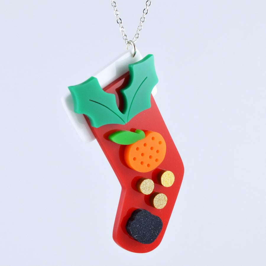 Image of Christmas Stocking Necklace