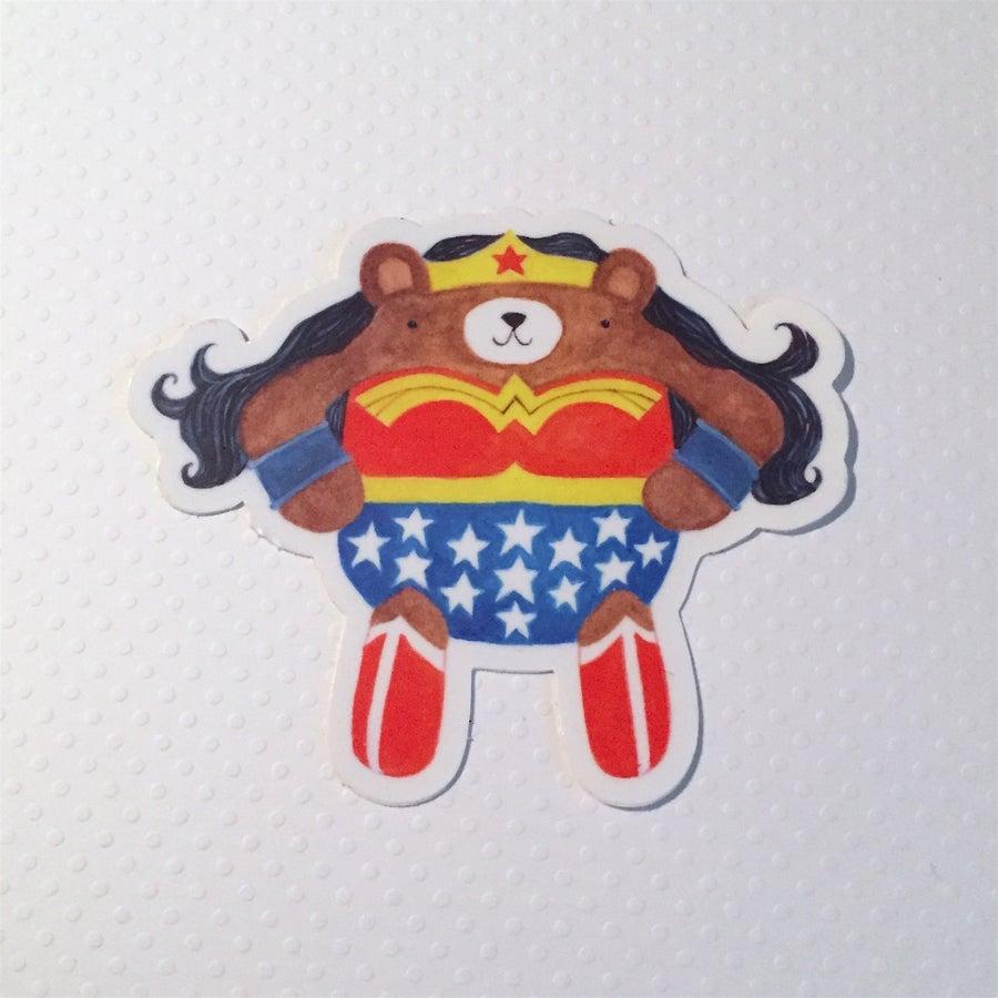 Image of wonder bear sticker