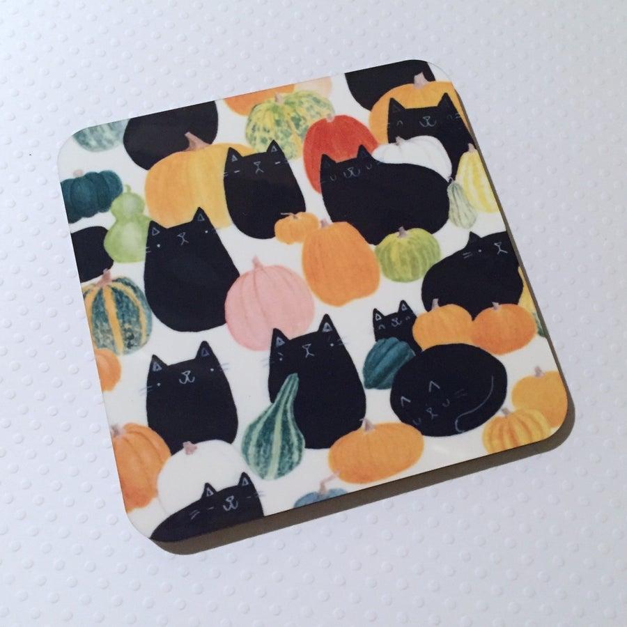 Image of pumpkat patch coasters!