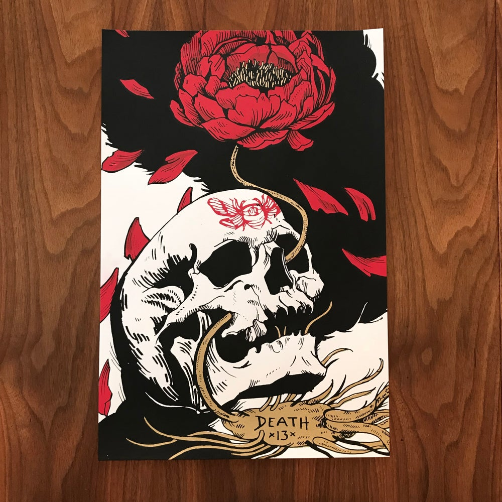 Image of Death hand pulled screen print