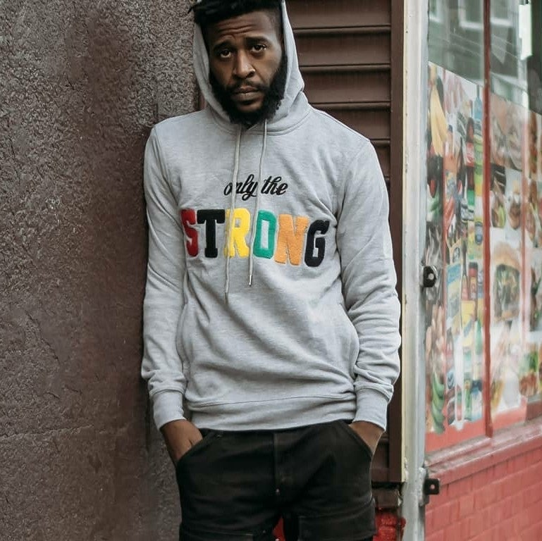 Image of ONLY THE STRONG HOODY (GREY HEATHER)
