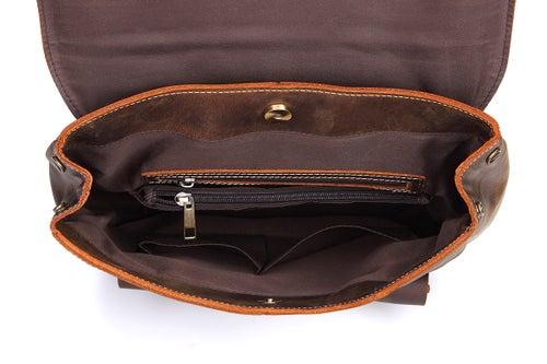 Image of Vintage Handmade Leather Backpack, Travel Backpack, School Rucksack 9452