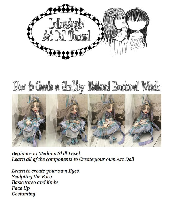 Image of LuLusApple Tutorial Learn to create an articulated Art Doll in a shabby style