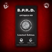 Image of Hellboy/B.P.R.D.: Limited Edition B.P.R.D. Antiqued Logo pin