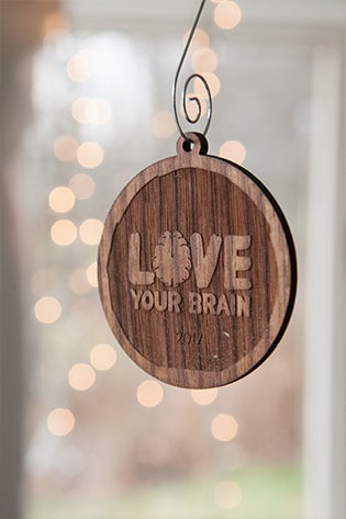 Image of LoveYour Brain Wooden Ornaments