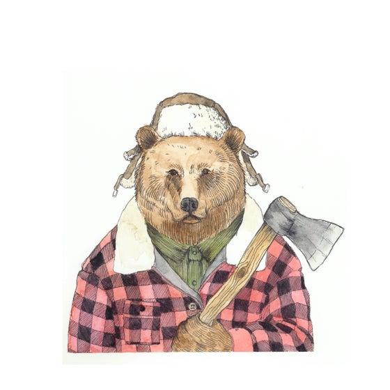 "Image of Print ""Mr. Bear"""
