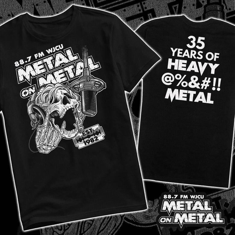 Image of WJCU Metal On Metal 35th Anniversary T-Shirt PREORDER (Short Sleeve)