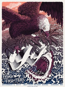 Image of Foo Fighters in Eugene, OR Poster