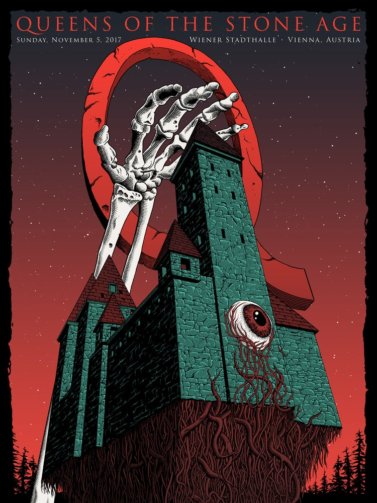 Image of Queens of the Stone Age in Vienna, Austria Poster