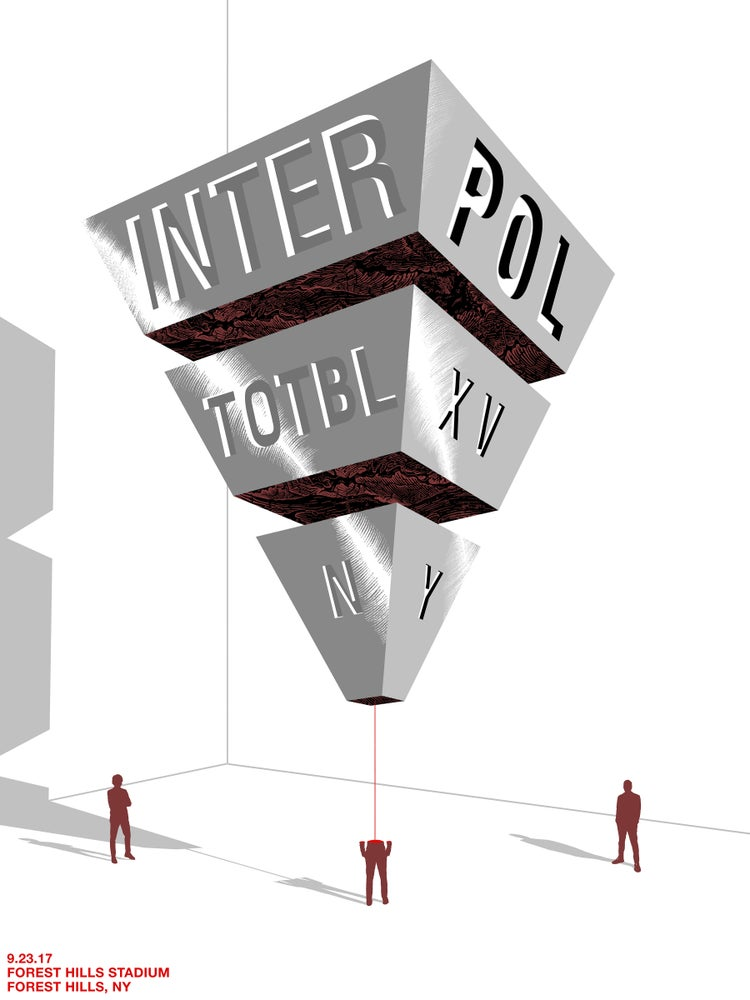 Image of Interpol TOTBLXV in Forest Hills, NY Poster