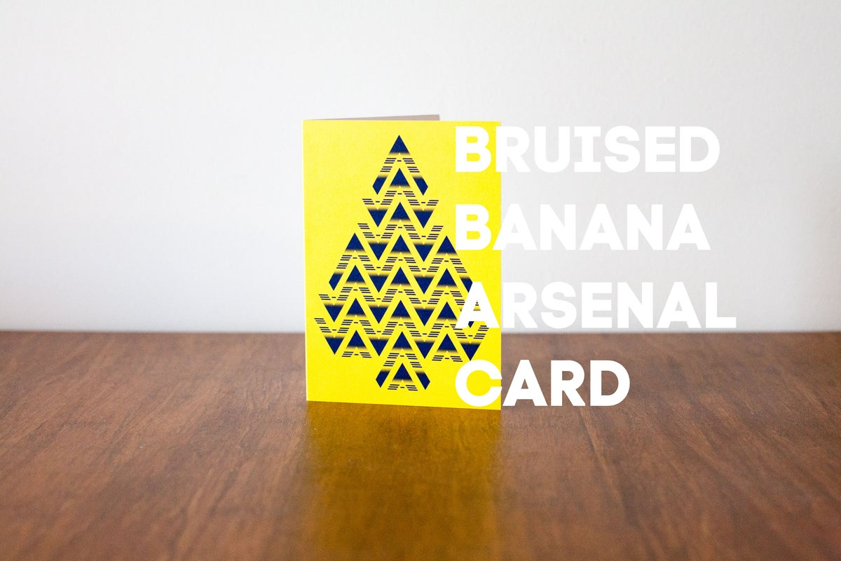 Image of Bruised Banana Arsenal Christmas Card