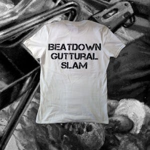 "Image of ""Beatdown Guttural Slam"" White T-shirt"
