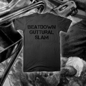 """Image of """"Beatdown Guttural Slam"""" Grey T-shirt"""