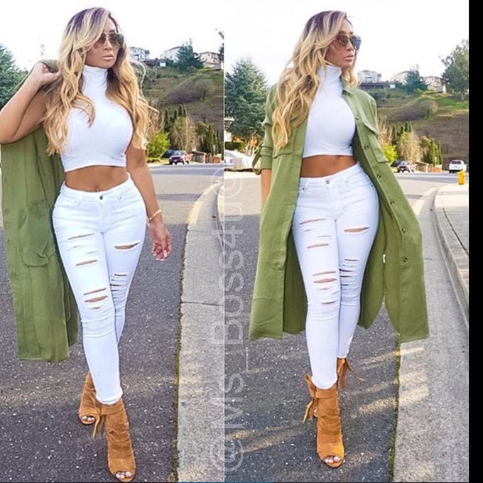 Image of Slasher Jeans White