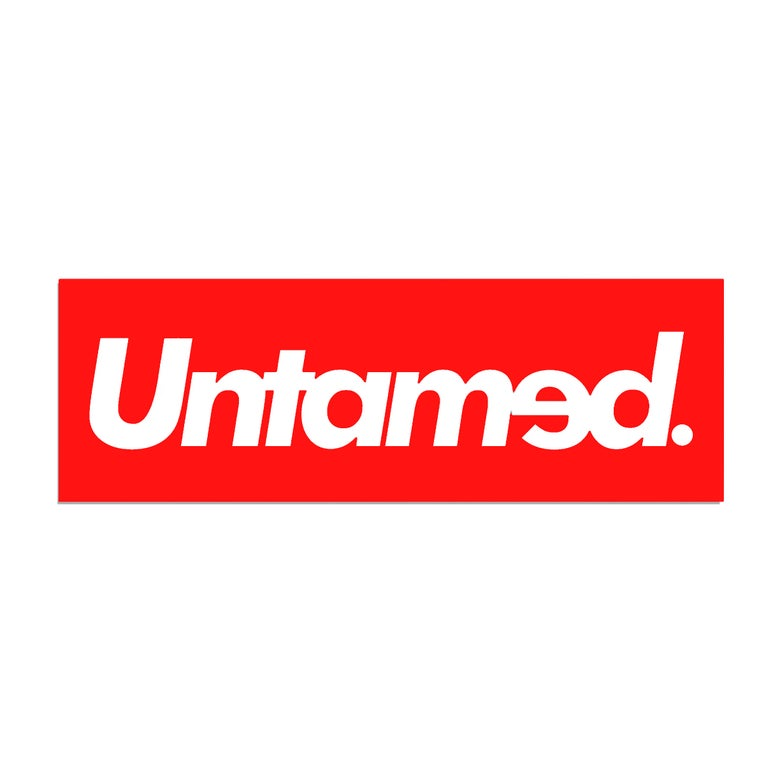 Image of Untamed - Red Reflective Sticker