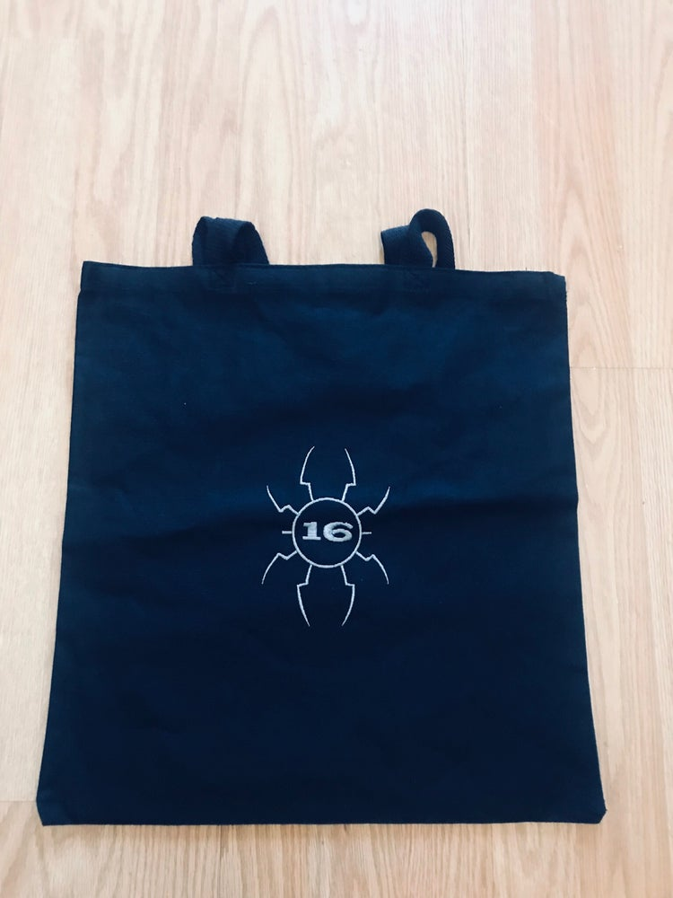 Image of -(16)- Spider Embroidered Logo Tote Bag
