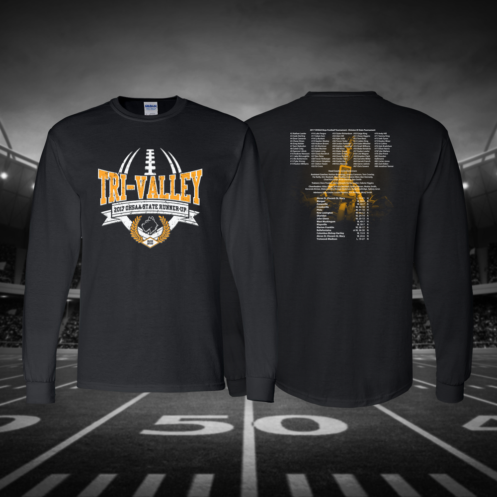 Image of Tri-Valley 2017 OHSAA State Runner-Up Long Sleeve T-Shirt