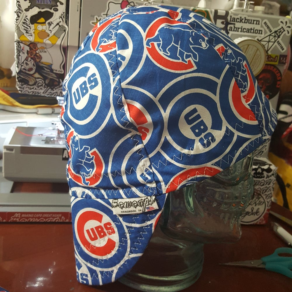 Image of Size 7-1/2 chicago cubs welders cap w/white stitching