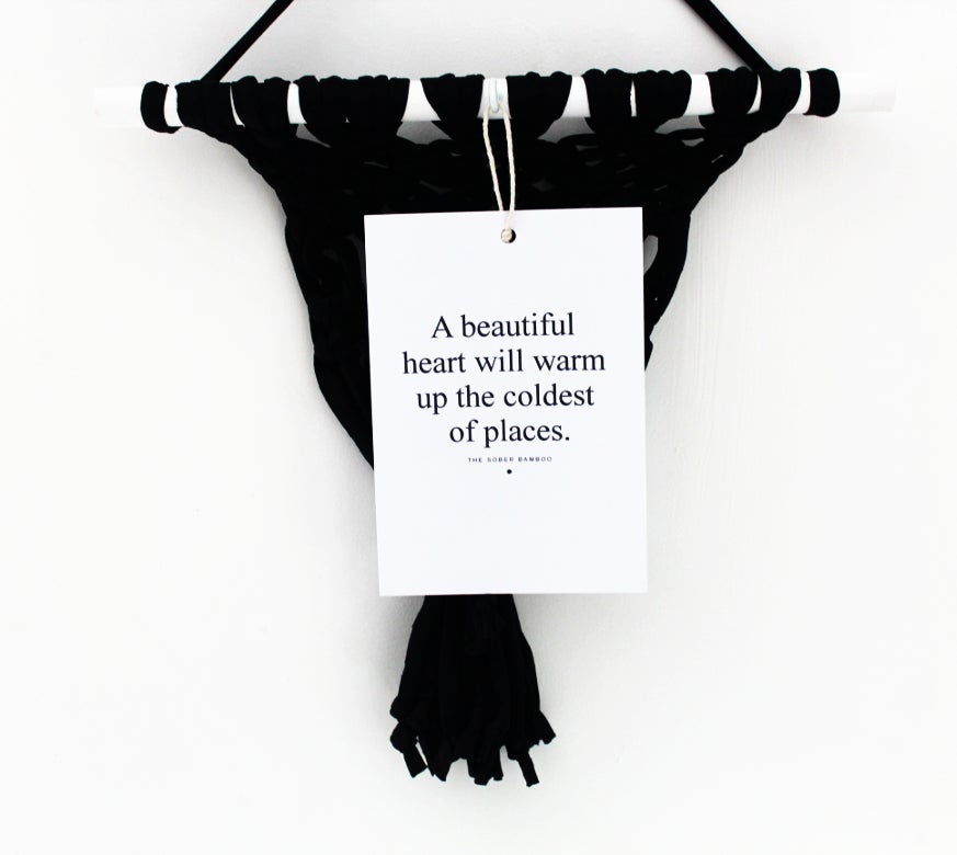 Image of A Beautiful Heart - Macrame Wall Hanging
