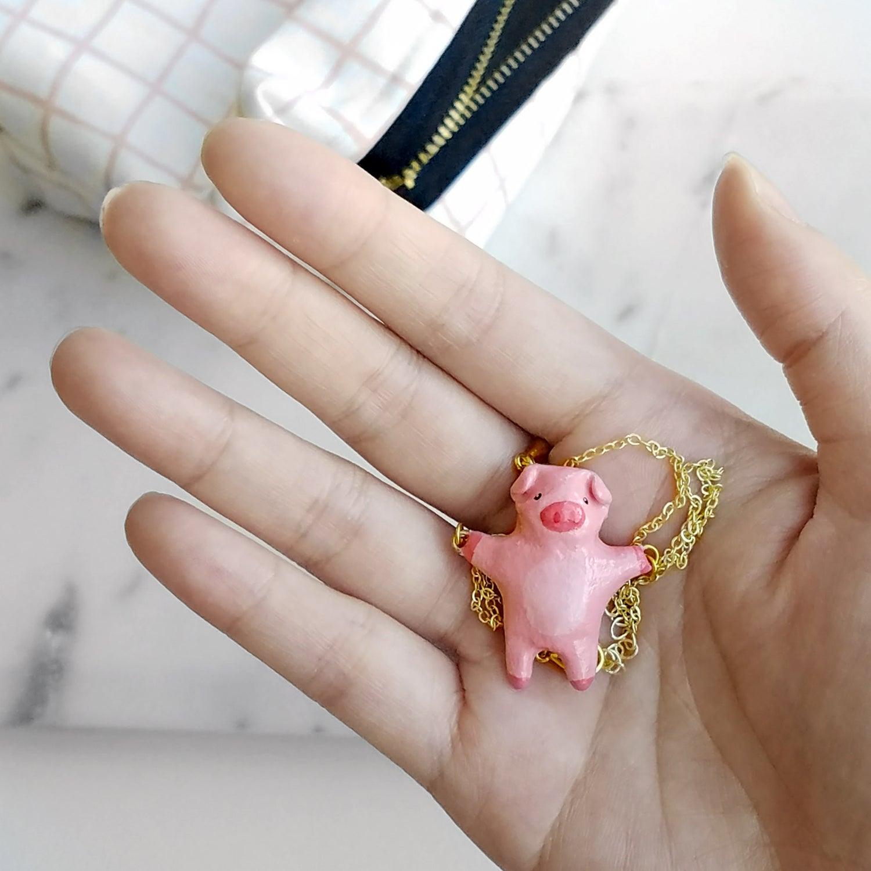 Image of Liten Kanin Piggy Necklace