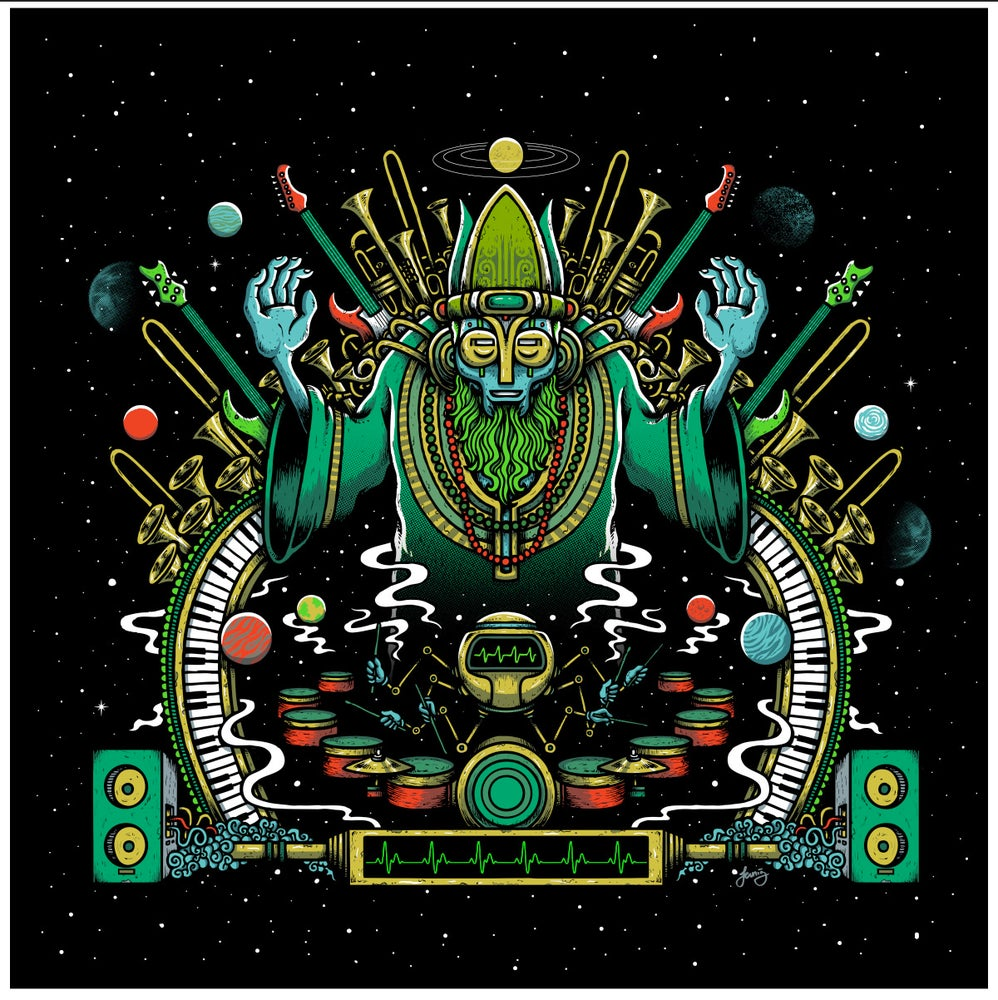"Image of ""Cosmic Maestro"" art print"