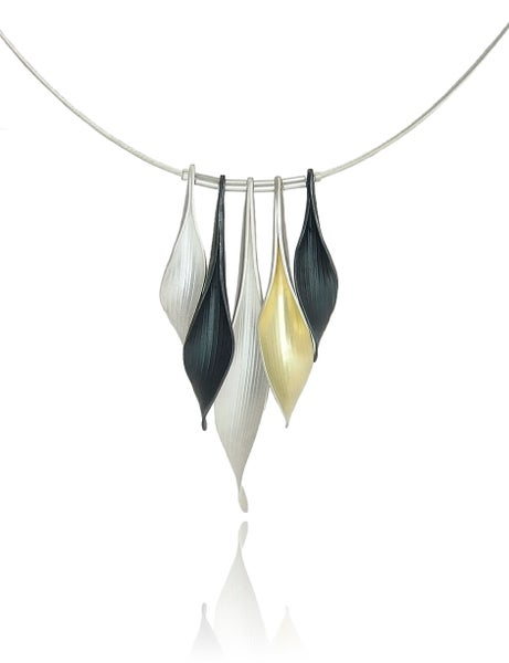 Image of Tiered 5 leaf pendant