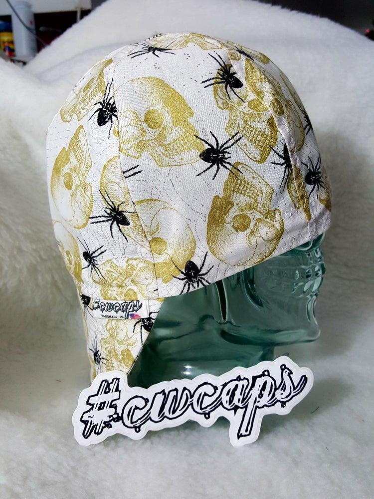 Image of Skulls n Spiders Welders Cap