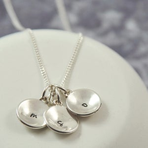 Image of Domus - Personalised Sterling Silver Domed Initial Necklace